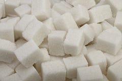 Cubos del azúcar blanco Imagen de archivo libre de regalías
