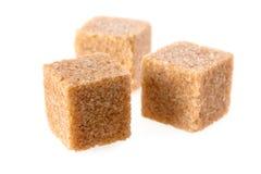 Cubos del azúcar de caña Foto de archivo libre de regalías