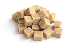 Cubos del azúcar de Brown Imagen de archivo
