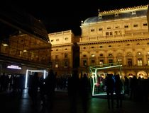 Cubos del baile por VACEK y SMID en el festival Praga de la señal Fotografía de archivo libre de regalías