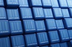 Cubos del código de barras Foto de archivo libre de regalías