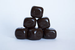 Cubos del chocolate Foto de archivo libre de regalías
