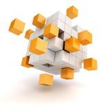 cubos del extracto 3d ilustración del vector