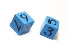 Cubos del número Foto de archivo libre de regalías