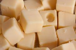 Cubos del queso Fotografía de archivo