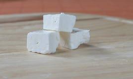 Cubos del queso Fotografía de archivo libre de regalías