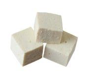 Cubos del queso de soja Imágenes de archivo libres de regalías