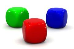 Cubos del RGB stock de ilustración