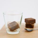 Cubos del té del jengibre del azúcar marrón de Taiwán fotografía de archivo