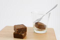 Cubos del té del jengibre del azúcar marrón de Taiwán foto de archivo