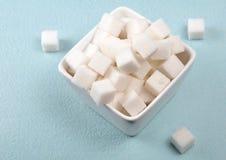 Cubos do açúcar Fotografia de Stock