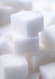 Cubos do açúcar branco Imagens de Stock