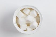 Cubos do açúcar branco Fotos de Stock Royalty Free