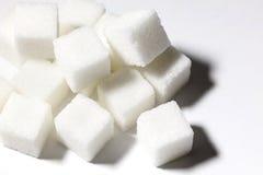 Cubos do açúcar branco Imagens de Stock Royalty Free