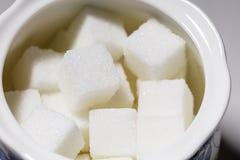 Cubos do açúcar branco Imagem de Stock