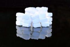 Cubos do açúcar de protuberância fotos de stock