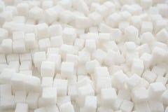 Cubos do açúcar refinado imagens de stock