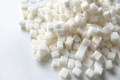 Cubos do açúcar refinado imagem de stock