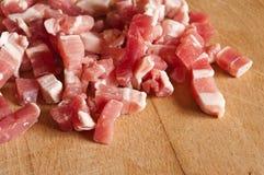 Cubos do bacon Imagem de Stock