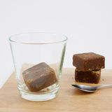 Cubos do chá do gengibre do açúcar mascavado de Taiwan Fotografia de Stock