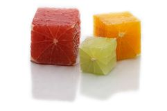 Cubos do citrino Imagem de Stock Royalty Free