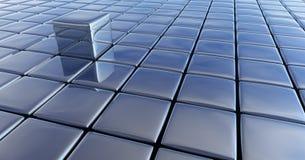 Cubos do cromo Imagens de Stock