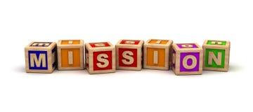 Cubos do jogo da missão Imagem de Stock