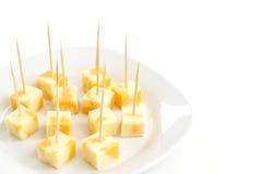 Cubos do queijo Fotografia de Stock Royalty Free