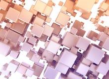 cubos do sumário 3d isolados no fundo branco Fotos de Stock