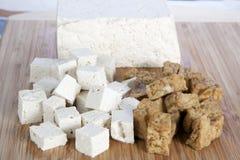 Cubos do Tofu Imagens de Stock Royalty Free