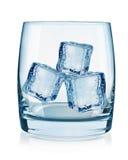 Cubos do vidro e de gelo Fotos de Stock
