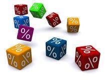Cubos dos por cento ilustração royalty free