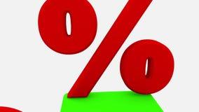 Cubos e 50 por cento no branco ilustração stock