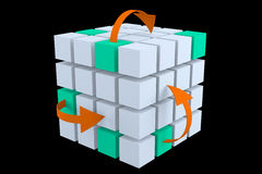 Cubos e setas Foto de Stock