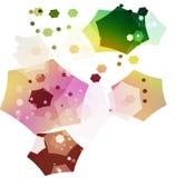 Cubos efervescentes y multicolores en el movimiento Foto de archivo libre de regalías