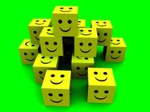 Cubos felizes 4 Foto de Stock