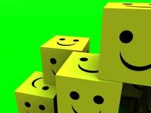 Cubos felizes 67 Foto de Stock
