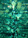 Cubos flotantes Foto de archivo