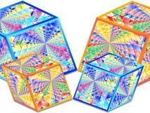 Cubos - formas geométricas abstratas Imagem de Stock