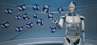 Cubos Humanoid dos por cento do robô ilustração stock