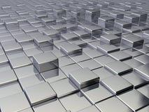 Cubos metálicos stock de ilustración