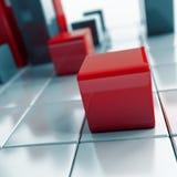 Cubos metálicos abstratos Fotos de Stock