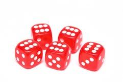 Cubos para o póquer Imagem de Stock
