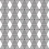 Cubos preto e branco sem emenda Imagens de Stock Royalty Free