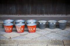 Cubos rojos japoneses Imagen de archivo libre de regalías