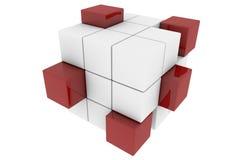 Cubos rojos y blancos Imágenes de archivo libres de regalías