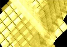 Cubos transparentes amarelos - vetor Imagem de Stock Royalty Free
