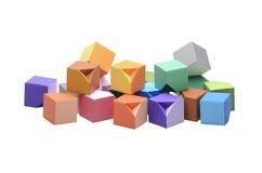 Cubos varicolored de la papiroflexia fotografía de archivo libre de regalías