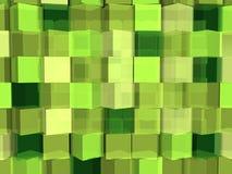 Cubos verdes Imagens de Stock