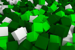 Cubos verdes Imagem de Stock Royalty Free